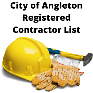 City of Angleton Registered Contractors List
